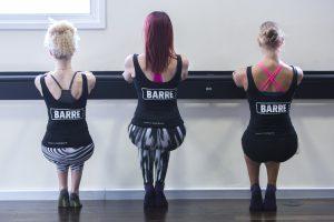 Virgin Active Barre Class. Photograph: Rosie Hallam
