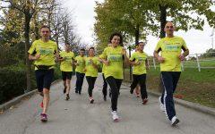San Patrignano Running Team. Nella foto squadra podistica della comunità. Allenamento.
