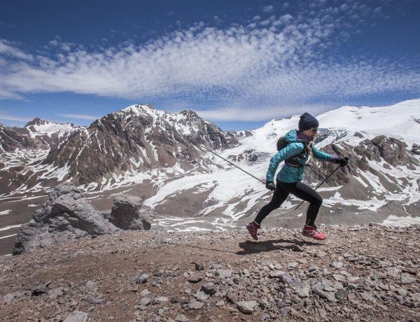 Fernanda Maciel run in Cerro Aconcagua in Mendoza, Argentina on January 11th, 2016