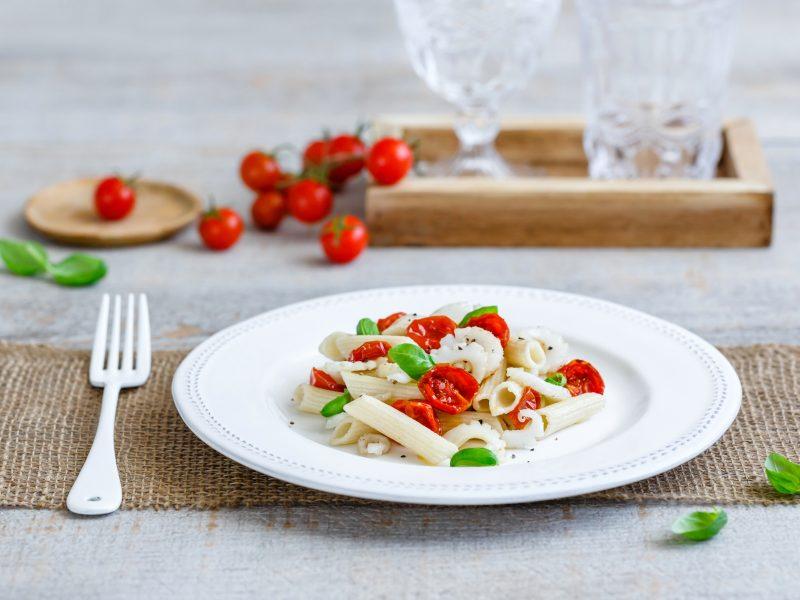 Penne rigate ZenPasta alla seppia con pomodori confit